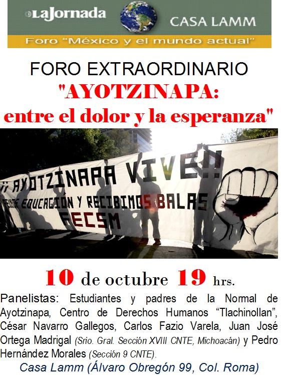 cartel Casa Lamm Ayotzinapa