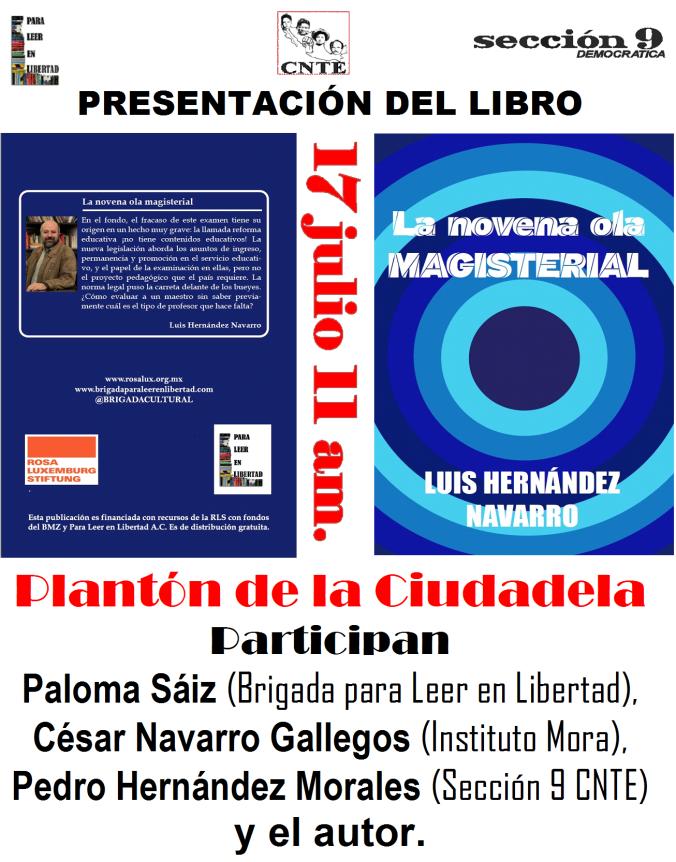 Cartel presentación libro Luis